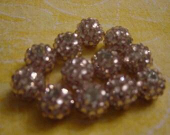 1 bead shambhala Golden pink 14 mm