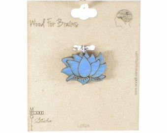 Lotus Flower Laser Cut Wooden Pendant
