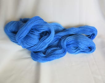 100% Alpaca - Hand Dyed/Painted - Blue- 3 Ply DK Weight Yarn - 250 Yds - 12-14 WPI