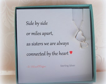 Sister Jewelry Gift, Sister necklace gift, Gift for sister, sister card, Sister in law gift, Gifts for sister