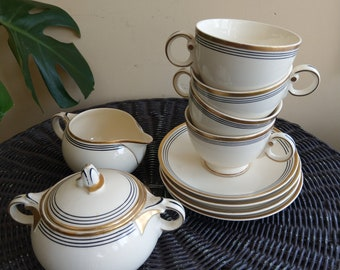 Mid century/Art deco style 10 piece Taylor Smith tea set