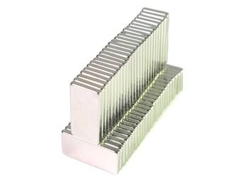 50pcs N35 Neodymium Cubic Magnet 20mm x 10mm x 3mm (0.7 x 0.4 x 0.11 inches)