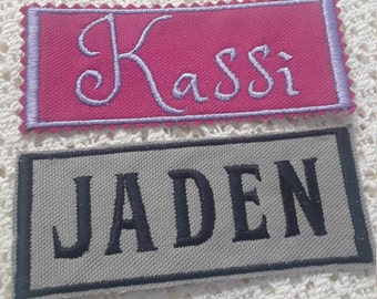 "PERSONALIZED NAME GIFTS-Baby Shower,Birthday,4""Embroidery Patch,For Totes,Shirts,Sleeping Bags,Diaper Bags,Bibs,Back Packs,Blankets,Iron-Sew"