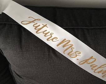 Bachelorette Sash / Bride to Be Sash / Custom Sash / Personalized Sash / Glitter Sash / Style H
