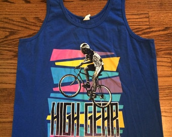 Vintage 1980's men's or women's cycling tank top. Size S/M