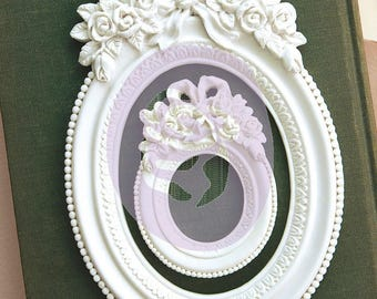 Prima Memory Hardware Resin Frames- Blanc Fleur Oval Frame, Frank Garcia Embellishments, New Release In Stock And Ready To Ship!