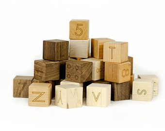Letter Blocks - Baby Gift - Baby Blocks - Unique Baby Gift - Waldorf Toys - Learning Toys