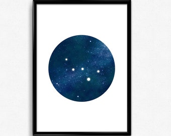 Cassiopeia constellation print, Constellation art, Printable astronomy wall prints