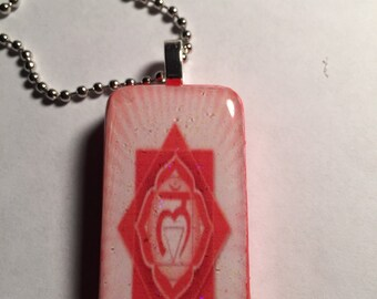 Base Chakra Altered Domino Necklace