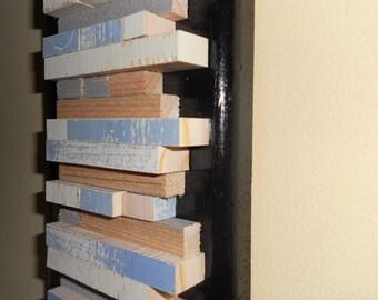 Wood Sculpture Wall Art,Original Textured Wall Art, Reclaimed Wood Wall Art Scuplture,Repurposed Sculpture Wood Wall Art
