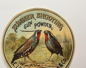 Summer Shooting Gunpowder Label