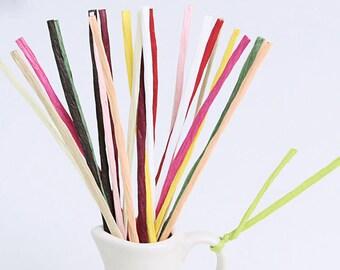 200 paper twist ties, bread bag ties, cookie bag ties, color twist ties, paper ties, gift wrapping, bag wired ties, color twist ties