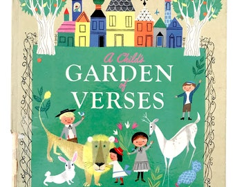 Vintage Book Childs Garden of Verses Provensen Illustrations 1951 FIRST Edition! Gift for Teacher