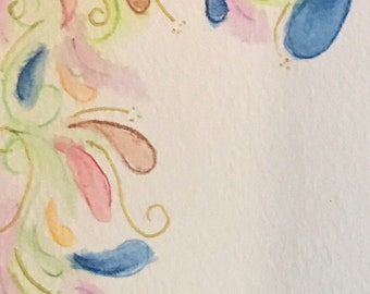 """Hand Painted Card 3.5 x 9"""""""