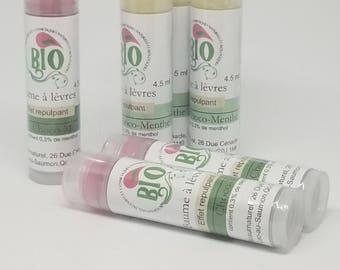 Lip balm with menthol lip balm / chocolate