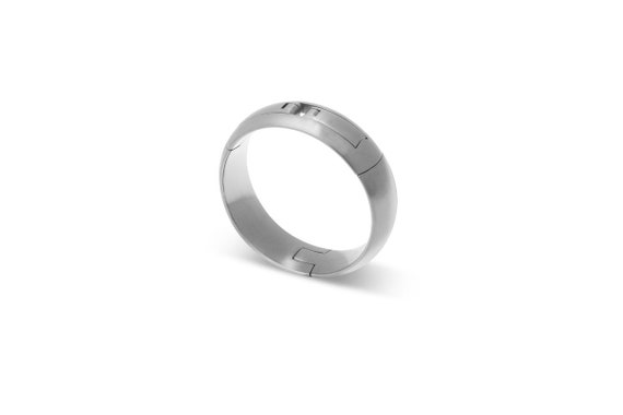 CP5 Hinged Titanium Mens Wedding Ring for Active Lifestyles