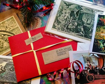 Christmas gift package with 5 Discovery / Sailing Related Artcards