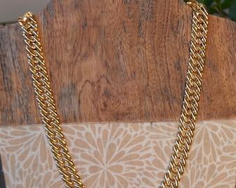 Napier Vintage Perfect condition Signed Golden Chain Necklace
