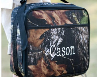 Monogrammed Lunch Box ~ Camo Lunch box ~ Custom boys lunch box