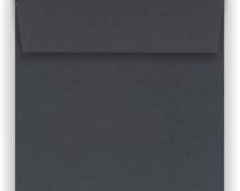 BLACK 6 inch square envelopes - 50 pack