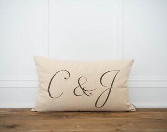 Custom Monogram Lumbar Pillow
