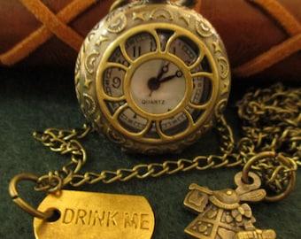 Watch Alice in Wonderland, clock, Steampunk clock