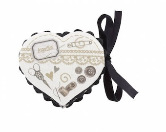 "Complete kit cartonnage ""range needle"" heart shape"
