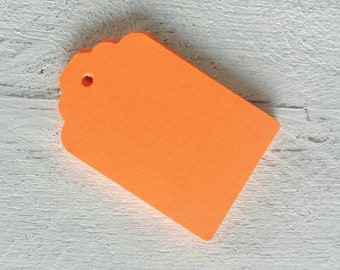 Bright Orange-Neon Orange- Gift Tags-25, 50 or 100 Gift Tags-Hang Tags-Price Tags-Favor Tags