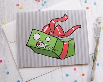 Funny Christmas Card, Merry Christmas, Funny Holiday Card, Holiday Gift Card, Funny Christmas Card, Gag Gift Card, Rabid Gift