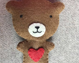 UPHOLSTERED BEAR BROOCH