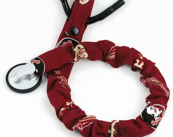 Stethoscope Cover, Stethoscope Covers,  Nursing Student, Student Nurse, Scrubs, Florida State Seminoles, Team Sport Fabric, Football, FSU