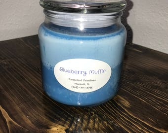 Blueberry Muffin 16 oz. Soy Candle, scented candle, fresh baked scent