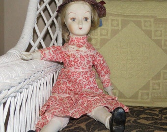 Vintage Doll, china limbs handmade- free shipping USA