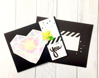 C020 - Handmade Love You Greeting Card