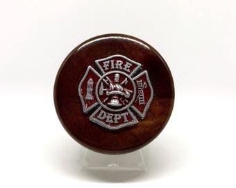 Fireman's Cross Wine Stopper – Red