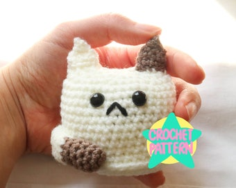 Crochet Pattern PDF Amigurumi Cat Kawaii Cute Animal Neko