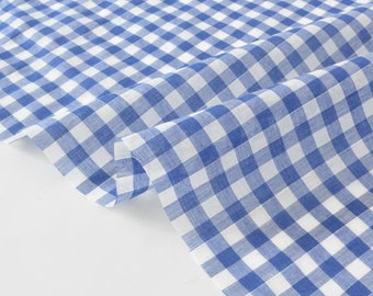 Fabric cotton gingham Plaid woven x50cm
