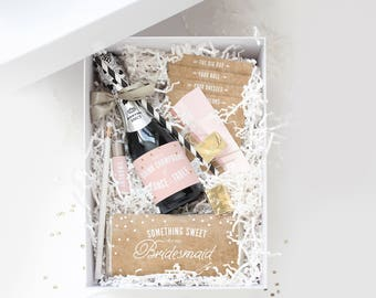 Be My Bridesmaid Box ~ Printable Collection // Champagne & Kraft // Ask Bridesmaids, Maid of Honor Gift, Bridesmaid Proposal, Bridesmaid Box