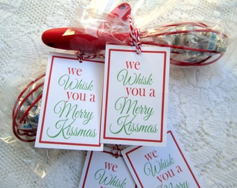 Christmas Tags for Christmas Crafting We Whisk You A Merry Kissmas