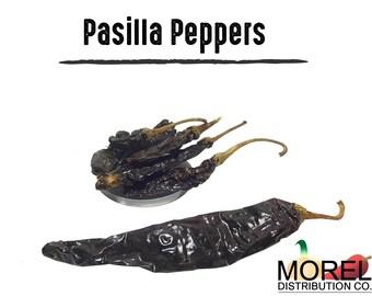 Dried Pasilla Pepper (Chile Pasilla) // Weights 4 oz, 8 oz, 12 oz, & 1 lb