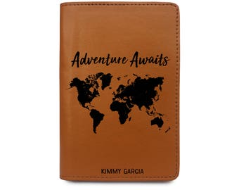 Leather Passport Cover Personalized - Personalized Passport Covers - Wedding Gifts for Couple Personalized - Passport Travel Wallet