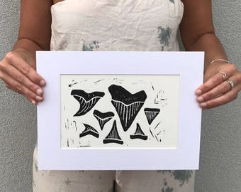 Sharks Teeth Print