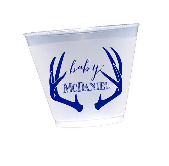 Monogram shatterproof cups