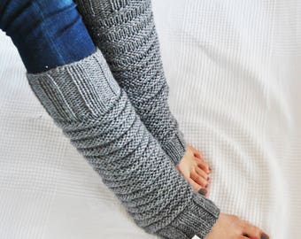 Leg Warmers // Yoga Leg Warmers // Leg Warmers Knitting / Grey Glitters