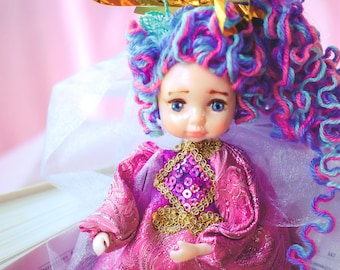 whimsical christmas ooak american girl doll cubby toy chubby doll fat baby doll babydoll toy cubbies hugs doll poseable fairy doll elf pixie