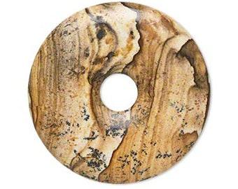 Pendant - 30mm PICTURE Jasper Donut