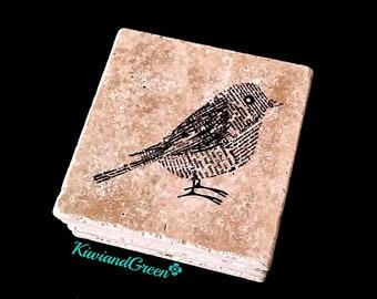Bird Decor - Stone Coaster Set - Absorbent Coasters - Bird Home Decor - Drink Coasters - Eclectic Home Decor