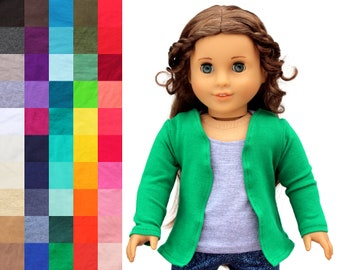 Fits like American Girl Doll Clothes - Cardigan, You Choose Color | 18 Inch Doll Clothes