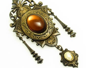 Victorian Revival Brooch Statement Jewelry