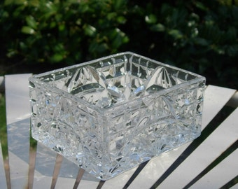 Vintage Glass Candy Dish Glass Nut Dish 1960's